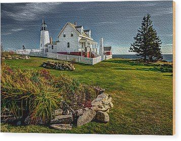 Lighthouse Home Wood Print