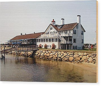 Wood Print featuring the photograph Lighthouse Inn At Bass River by Frederic Kohli