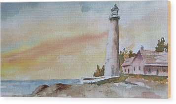 Lighthouse Wood Print by Jim Stovall