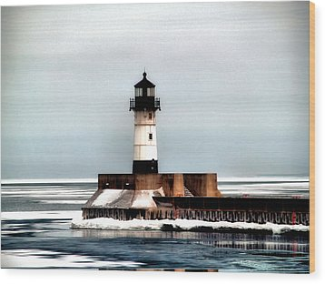 Lighthouse Wood Print by Jimmy Ostgard