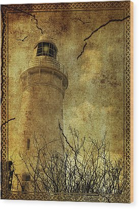Wood Print featuring the digital art Lighthouse by Margaret Hormann Bfa