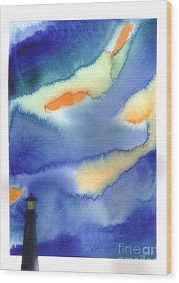 Lighthouse Wood Print by Mui-Joo Wee