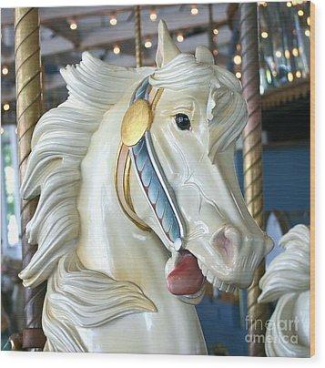 Lighthouse Park Carousel B Wood Print by Cindy Lee Longhini