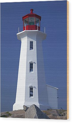 Lighthouse Peggy's Cove Wood Print by Garry Gay