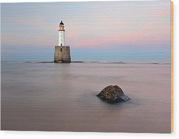 Wood Print featuring the photograph Lighthouse Rattray by Grant Glendinning