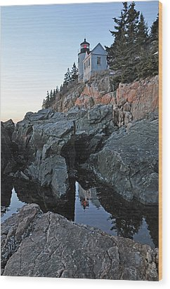 Wood Print featuring the photograph Lighthouse Reflection by Glenn Gordon