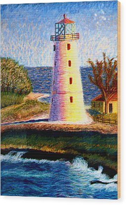 Lighthouse Wood Print by Stan Hamilton