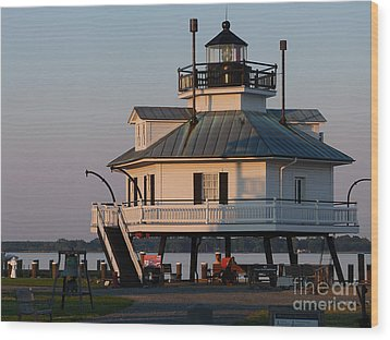 Lighthouse  St.michaels Md Wood Print