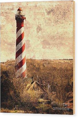 Lighthouse Westerlichttoren Wood Print