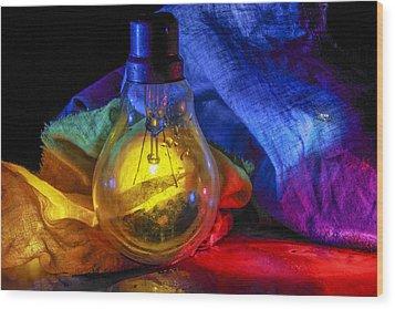 Lighting The Dark Wood Print by Rohan Sandhir