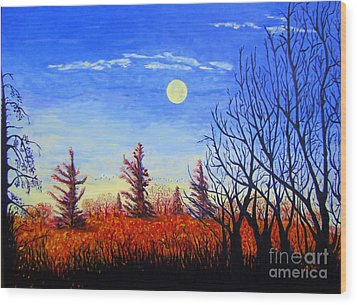 Lighting The Sky Wood Print by Lisa Rose Musselwhite