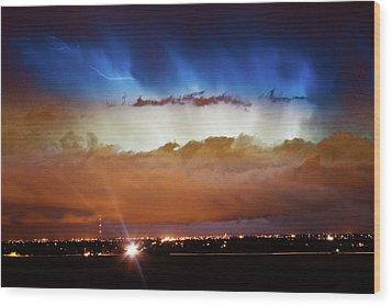 Lightning Cloud Burst Boulder County Colorado Im34 Wood Print by James BO  Insogna