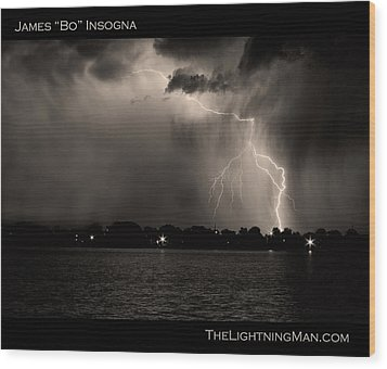 Lightning Energy Poster Print Wood Print by James BO  Insogna