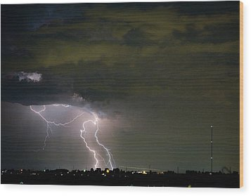 Lightning Man In The Clouds Wood Print by James BO  Insogna