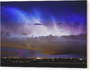 Lightning Thunder Head Cloud Burst Boulder County Colorado Im39 Wood Print by James BO  Insogna