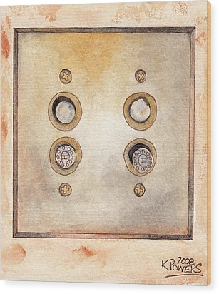 Lightswitch Wood Print by Ken Powers