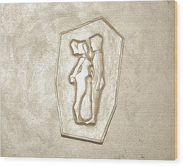 like Adam and Eva Wood Print by Alexander Almark