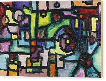 Like Clockwork Wood Print by Regina Valluzzi