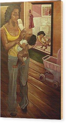 Like Mommy Wood Print by Amira Najah Whitfield