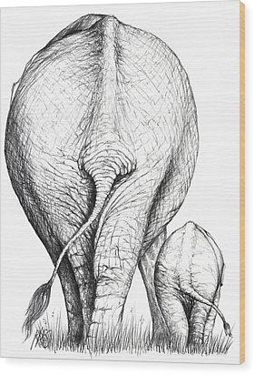 Like Mother Like Son Wood Print by Heidi Kriel
