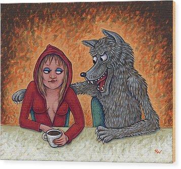Lil' Red Hoodie Wood Print