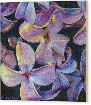 Lilac 1 Wood Print by Audi Swope