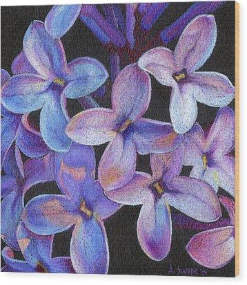 Lilac 3 Wood Print by Audi Swope