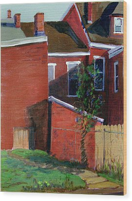 Lilac Bush On Dresden Way Wood Print by Martha Ressler