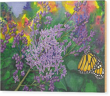 Lilac Wood Print by Catherine G McElroy
