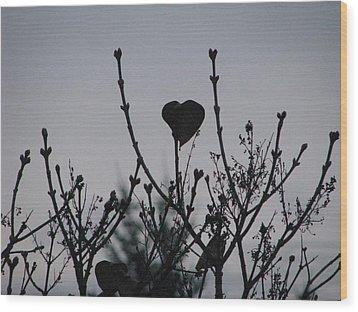 Lilac Heart Wood Print by Judyann Matthews