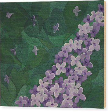 Lilac Wood Print by Paul Amaranto