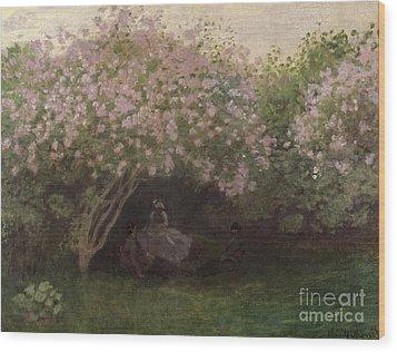 Lilacs Wood Print by Claude Monet
