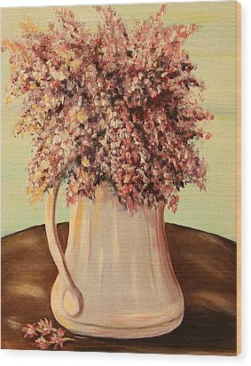 Lilacs For Mom Wood Print by Dyanne Parker