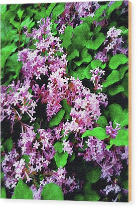 Wood Print featuring the painting Lilacs In May by Sandy MacGowan