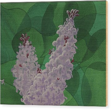 Wood Print featuring the painting Lilacs by Paul Amaranto