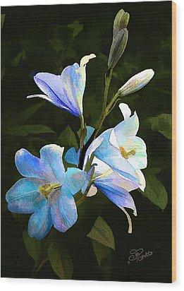 Lilies Wood Print by Suni Roveto