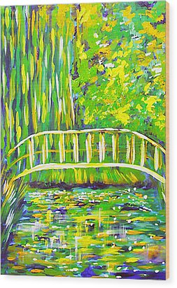 Lillies Wood Print by Paul SANDILANDS
