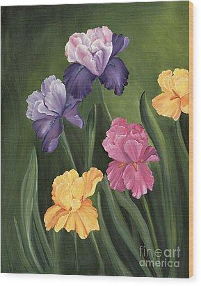Lill's Garden Wood Print