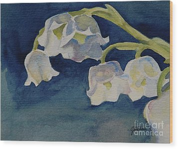 Lilly Of The Valley Wood Print by Gretchen Bjornson