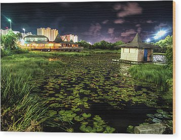 Lilly Pads On The Pond Wood Print