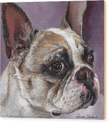 Lilly The French Bulldog Wood Print by Enzie Shahmiri