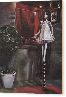 Lillys Wood Print by Lori Keilwitz