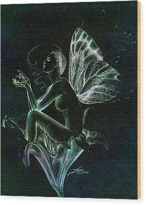 Wood Print featuring the painting Lily Fay by Ragen Mendenhall