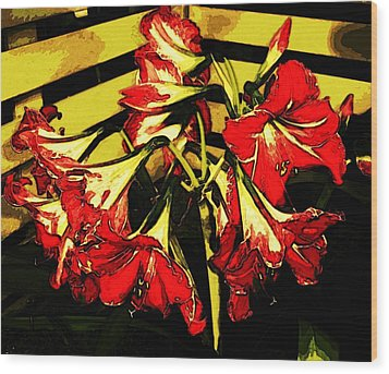 Wood Print featuring the digital art Lily Gem by Winsome Gunning