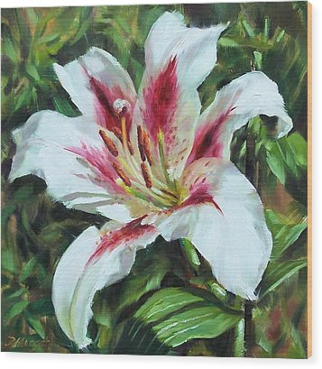 Lily Impression Wood Print by Donna Munsch