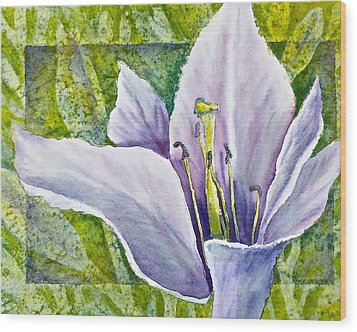 Lily In Purple Wood Print by Carolyn Rosenberger