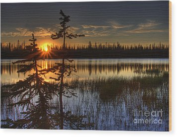 Lily Lake Sunset 2 Wood Print