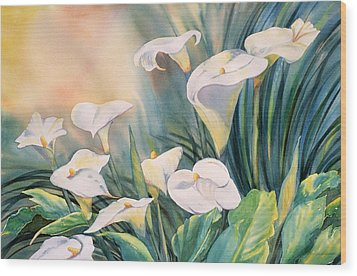 Lily Light Wood Print