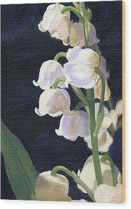 Lily Of The Valley Wood Print by Lynne Reichhart