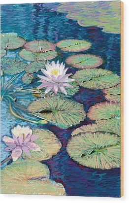 Lily Pads Wood Print by Valer Ian